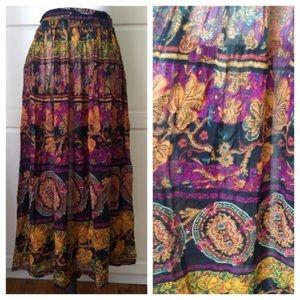 Vintage | 90s Boho Indian Cotton Gauze Skirt